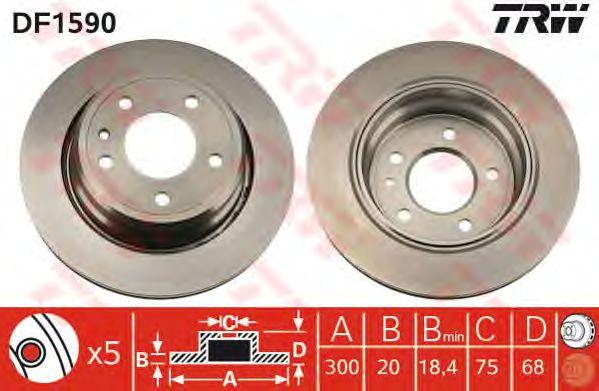 Колодки DF1590. Тормозные диски для BMW